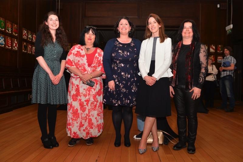 Cairde na Cruite Committee Members Rachel Duffy, Áine Ní Dhubhghaill, Dearbhail Finnegan, Helen Price and Caitríona Rowsome